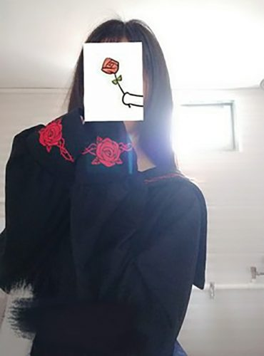 Rose Thorns Embroidery Long Sleeve Sailor Collar photo review