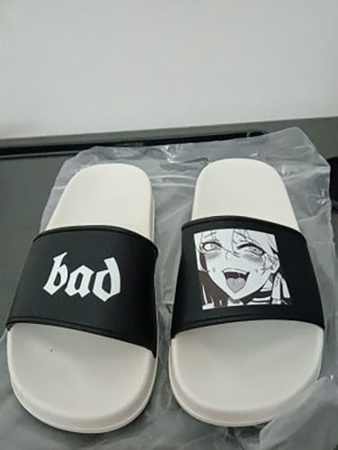 Bad Slippers Anime Girl Tongue eGirl Aesthetic photo review