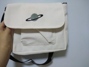 Saturn Embroidery Shoulder Bag Soft Girl Aesthetic photo review