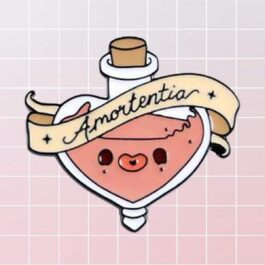 Amortentia Love Potion Enamel Pin Badge 1 - Orezoria Aesthetic Outfits Shop - eGirl Outfits - Soft Girl Outfits