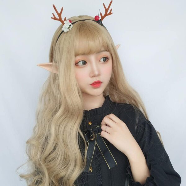 Ash Blonde Wavy Princess Hair Wig Cute Aesthetic 1 - Orezoria Aesthetic Outfits Shop - eGirl Outfits - Soft Girl Outfits