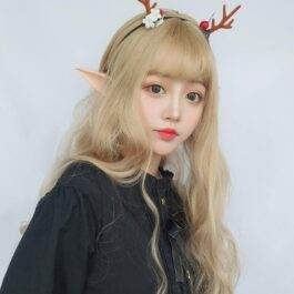 Ash Blonde Wavy Princess Hair Wig Cute Aesthetic 2 - Orezoria Aesthetic Outfits Shop - eGirl Outfits - Soft Girl Outfits