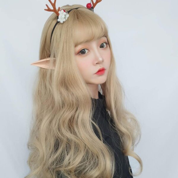 Ash Blonde Wavy Princess Hair Wig Cute Aesthetic 3 - Orezoria Aesthetic Outfits Shop - eGirl Outfits - Soft Girl Outfits