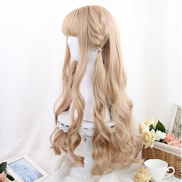 Ash Blonde Wavy Princess Hair Wig Cute Aesthetic 4 - Orezoria Aesthetic Outfits Shop - eGirl Outfits - Soft Girl Outfits