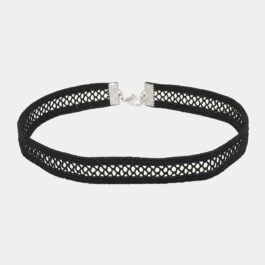 Black Inner Net Ribbon Choker Collar Necklace