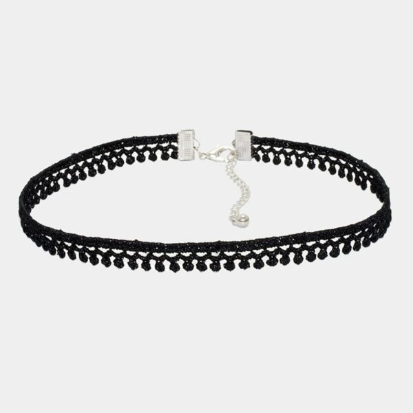 Black One SIde Drops Choker Neckband Collar