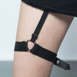 Black Thigh Garter Suspender eGirl Aesthetic