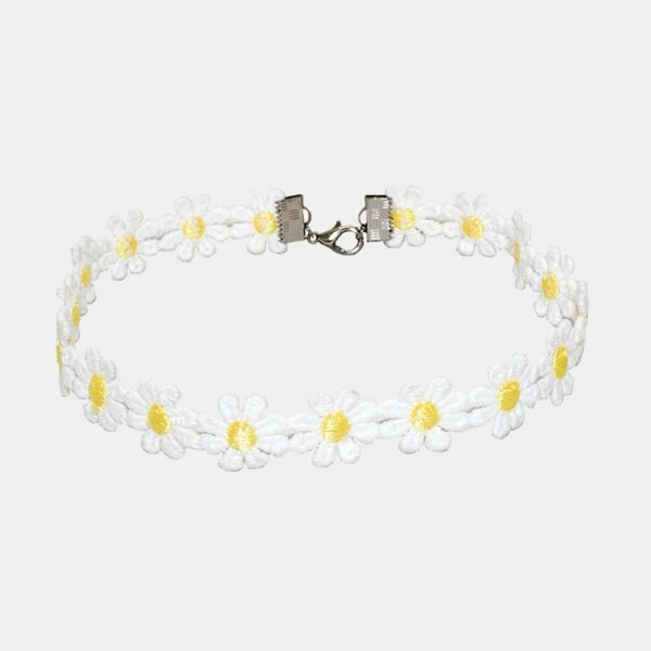 Chamomile Flower Choker Collar Necklace Soft Girl