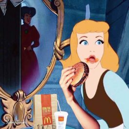 Cinderella Eating Burger T-Shirt eGirl Aesthetic OP