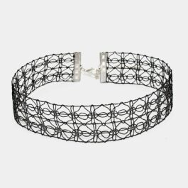 Double Line Laced Choker Collar Necklace Alt Girl
