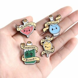 Felix Felicis Luck Potion Enamel Pin Badges 2 - Orezoria Aesthetic Outfits Shop - eGirl Outfits - Soft Girl Outfits