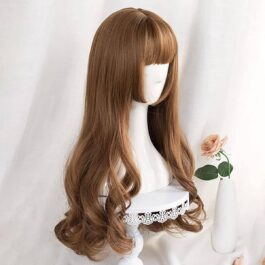 Golden Blonde Big Wave Hair Wig Korean Aesthetic