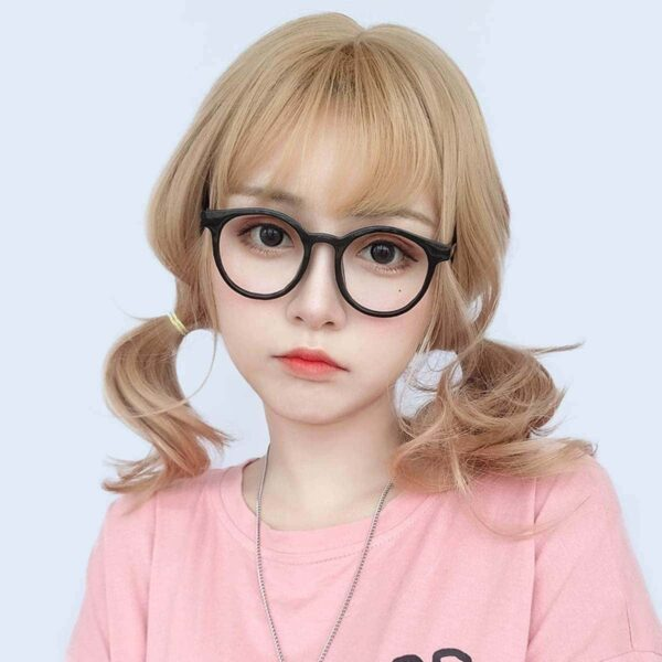 Golden Blonde Wavy Straight Bang Wig Cute Aesthetic 2 - Orezoria Aesthetic Outfits Shop - eGirl Outfits - Soft Girl Outfits