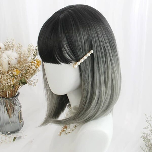 Gradient Blue Dark Bob Hair Wig eGirl Aesthetic 3 - Orezoria Aesthetic Outfits Shop - eGirl Outfits - Soft Girl Outfits