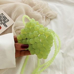 Grape Green Beads Shoulder Bag Korean Style