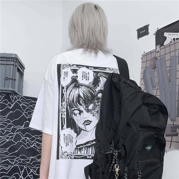 Junji Ito Tomie Two Faces Magnet Art Hoe T-Shirt