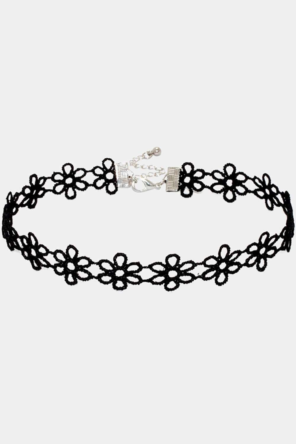 Laced Flowers Choker Collar Necklace Black and White 0 Pinterest - Orezoria Aesthetic Clothing Shop