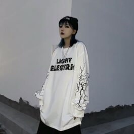 Light Electric Long Sleeve Lightning eGirl Aesthetic