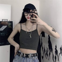 Lined Crop Camisole Top eGirl Aesthetic