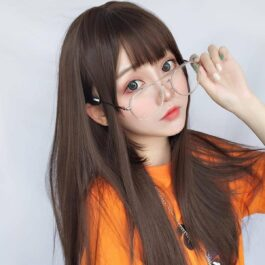 Long Straight Xiu Hair Wig Korean Aesthetic 2 - Orezoria Aesthetic Outfits Shop - eGirl Outfits - Soft Girl Outfits