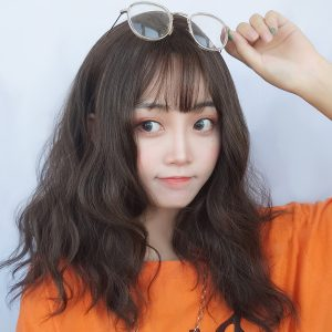 Medium Long Curly Hair Wig Korean Aesthetic 1 - Orezoria Aesthetic Outfits Shop - eGirl Outfits - Soft Girl Outfits