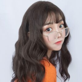 Medium Long Curly Hair Wig Korean Aesthetic 2 - Orezoria Aesthetic Outfits Shop - eGirl Outfits - Soft Girl Outfits