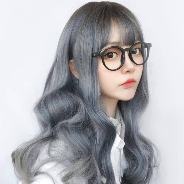 Mercury Gray Gradient Curly Hair Wig Cute Aesthetic 2 - Orezoria Aesthetic Outfits Shop - eGirl Outfits - Soft Girl Outfits