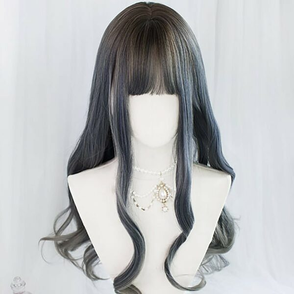 Mercury Gray Gradient Curly Hair Wig Cute Aesthetic 3 - Orezoria Aesthetic Outfits Shop - eGirl Outfits - Soft Girl Outfits