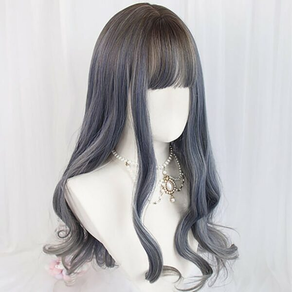 Mercury Gray Gradient Curly Hair Wig Cute Aesthetic 4 - Orezoria Aesthetic Outfits Shop - eGirl Outfits - Soft Girl Outfits