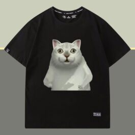 Mur Cat Fat Dance T-Shirt Meme Aesthetic 2 - Orezoria Aesthetic Outfits Shop - eGirl Outfits - Soft Girl Outfits