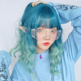 Ocean Blue Gradient Wig Light Wavy eGirl Aesthetic 1 - Orezoria Aesthetic Outfits Shop - eGirl Outfits - Soft Girl Outfits