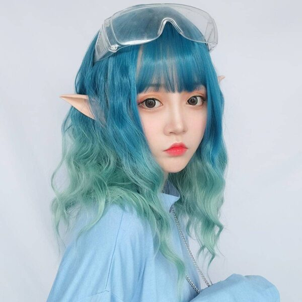 Ocean Blue Gradient Wig Light Wavy eGirl Aesthetic 2 - Orezoria Aesthetic Outfits Shop - eGirl Outfits - Soft Girl Outfits