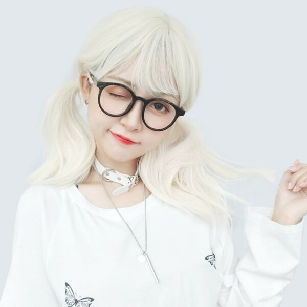 Pale White Blonde Wavy Hair Wig Soft Girl Aesthetic 3 - Orezoria Aesthetic Outfits Shop - eGirl Outfits - Soft Girl Outfits