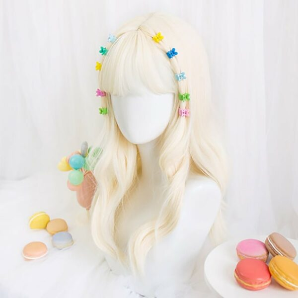 Pale White Blonde Wavy Hair Wig Soft Girl Aesthetic 4 - Orezoria Aesthetic Outfits Shop - eGirl Outfits - Soft Girl Outfits