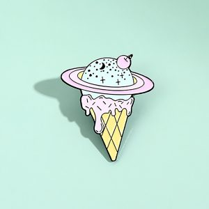 Pastel Planet Saturn Ice Cream Enamel Pin Badge 1 - Orezoria Aesthetic Outfits Shop - eGirl Outfits - Soft Girl Outfits