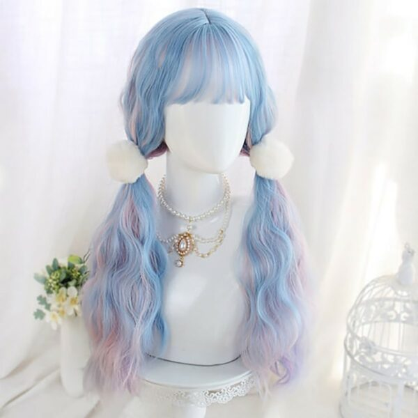 Pink Blue Mixed Pastel Wig Cute Aesthetic 3 - Orezoria Aesthetic Outfits Shop - eGirl Outfits - Soft Girl Outfits