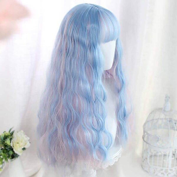 Pink Blue Mixed Pastel Wig Cute Aesthetic 4 - Orezoria Aesthetic Outfits Shop - eGirl Outfits - Soft Girl Outfits