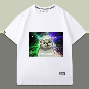 Pixel Art Mur Cat Strange Knowledge Increased T-Shirt 1 - Orezoria Aesthetic Outfits Shop - eGirl Outfits - Soft Girl Outfits