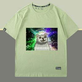 Pixel Art Mur Cat Strange Knowledge Increased T-Shirt 2 - Orezoria Aesthetic Outfits Shop - eGirl Outfits - Soft Girl Outfits