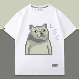 Pixel Mur Cat LSC Meme T-Shirt 1 - Orezoria Aesthetic Outfits Shop - eGirl Outfits - Soft Girl Outfits