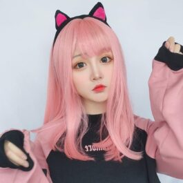 Shoulder Long Straight Bang Pastel Hair Wig eGirl Aesthetic 1 - Orezoria Aesthetic Outfits Shop - eGirl Outfits - Soft Girl Outfits