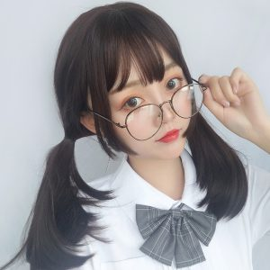 Side Wings Clavicle Hair Wig Cute Korean Aesthetic 1 - Orezoria Aesthetic Outfits Shop - eGirl Outfits - Soft Girl Outfits