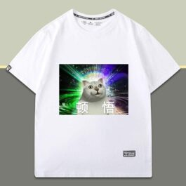 Slow Down Dude Mur Cat Meme T-Shirt 1 - Orezoria Aesthetic Outfits Shop - eGirl Outfits - Soft Girl Outfits