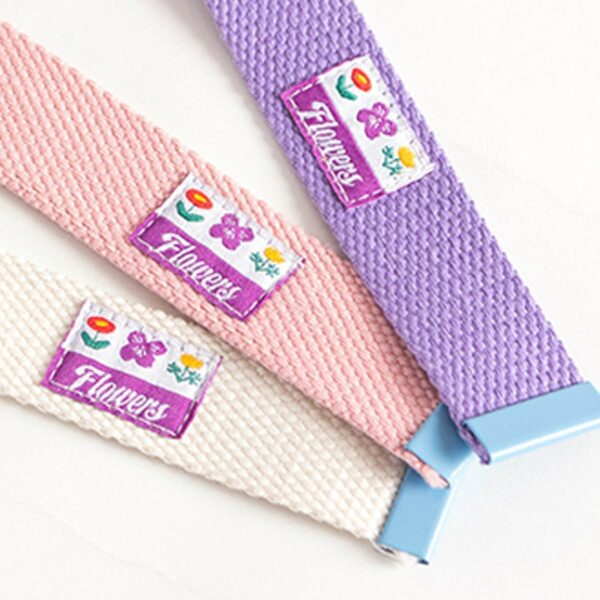 Soft Girl Pastel Belt 3 Colors Double Ring