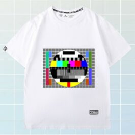 Square 80s TV No Signal Nostalgia T-Shirt 1 - Orezoria Aesthetic Outfits Shop - eGirl Outfits - Soft Girl Outfits