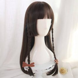 Straight Bang Jellyfish Cut Long Hair Wig Japanese Style