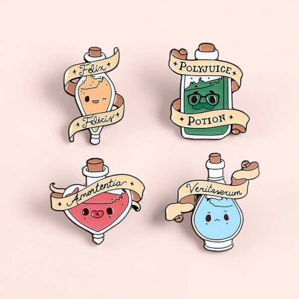 Veritaserum Truth Potion Enamel Pin Badge 2 - Orezoria Aesthetic Outfits Shop - eGirl Outfits - Soft Girl Outfits