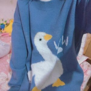 Cute Wow Goose Duck Aesthetic Sweater photo review