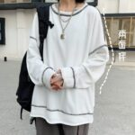 Oversized Solid Color Korean Sweatshirt Orezoria Aesthetic Outfits Shop - Aesthetic Clothing - eGirl Outfits - Soft Girl Outfits.psd (2
