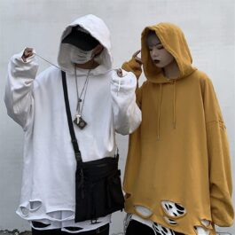 Bottom Torn Korean Street Aesthetic Hoodie - Orezoria Aesthetic Outfits Shop - Aesthetic Clothing - eGirl Outfits - Soft Girl Outfits.psd
